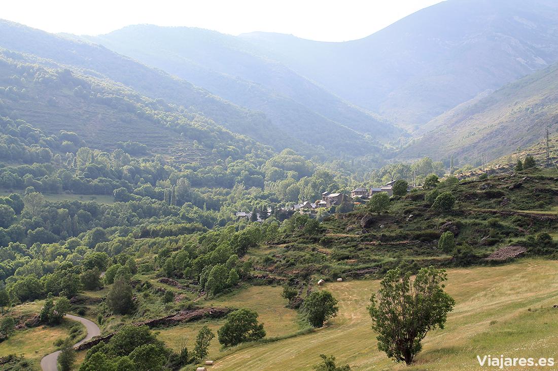 El pueblo de Cervi en el valle de Unarre