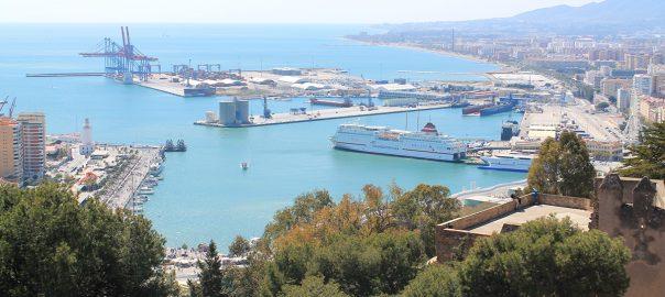 Vistas de la ciudad de Málaga desde Gibralfaro