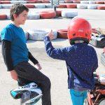 Comentando las carreras en Karting Vendrell