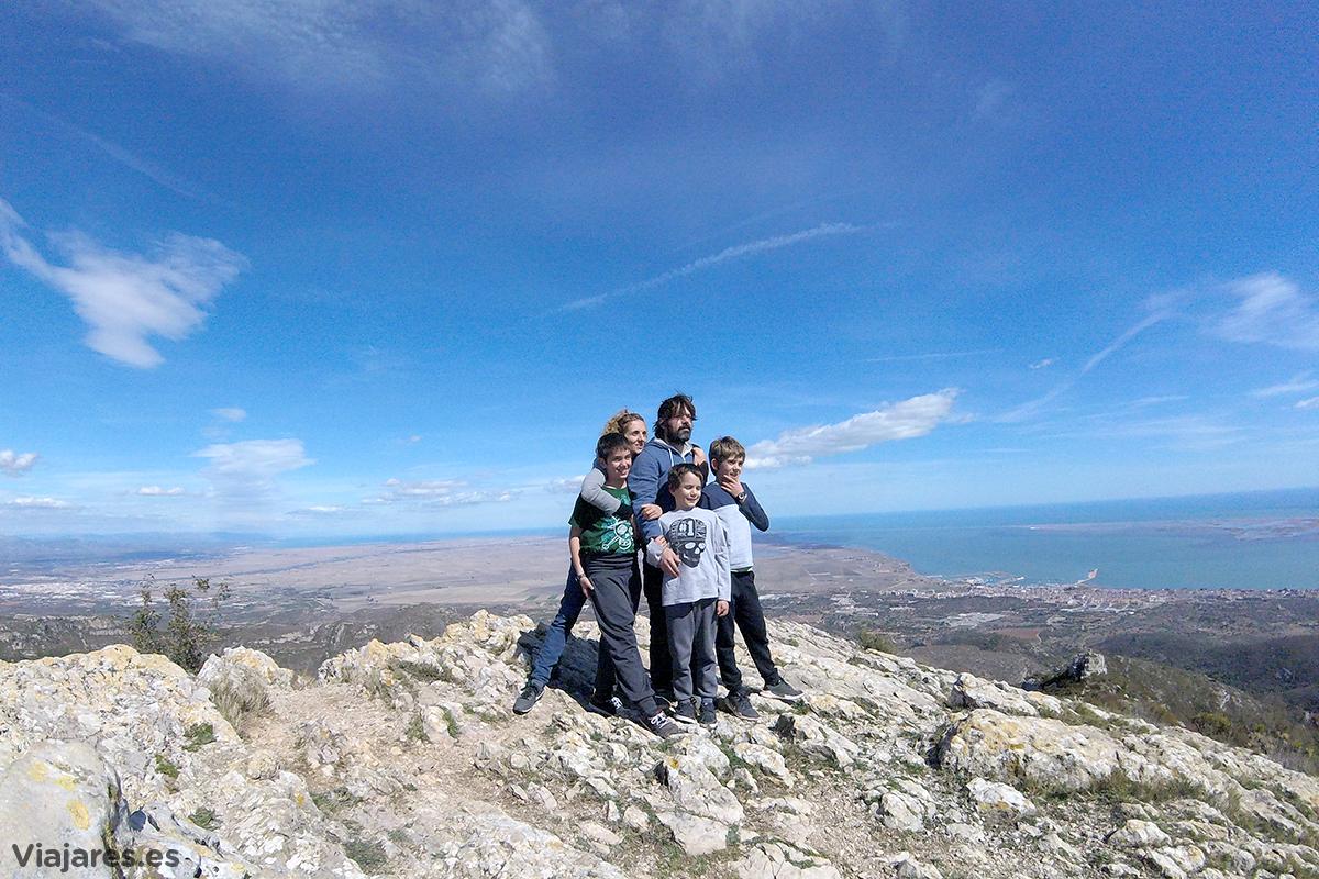 Disfrutando de las vistas sobre el Delta del Ebro
