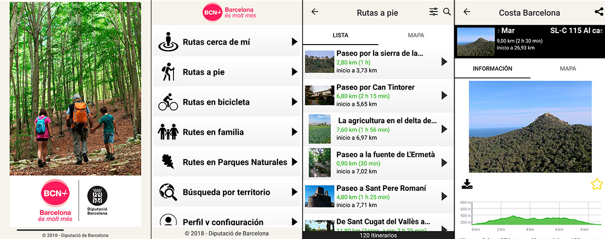 Aplicación BCN+ Rutas