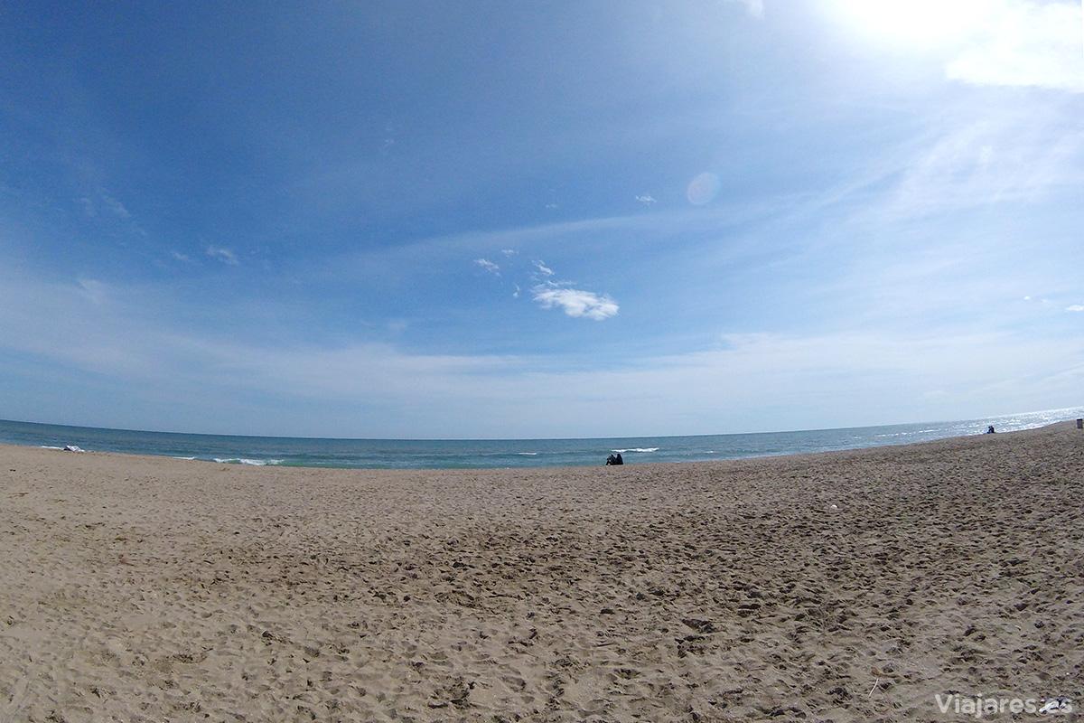 La fabulos playa de El Vendrell, Costa Daurada