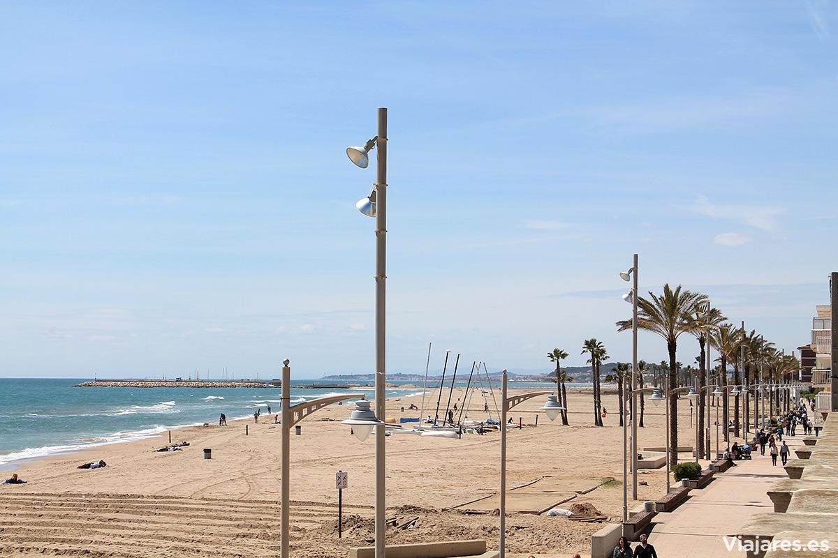 Playa de Sant Salvador en El Vendrell