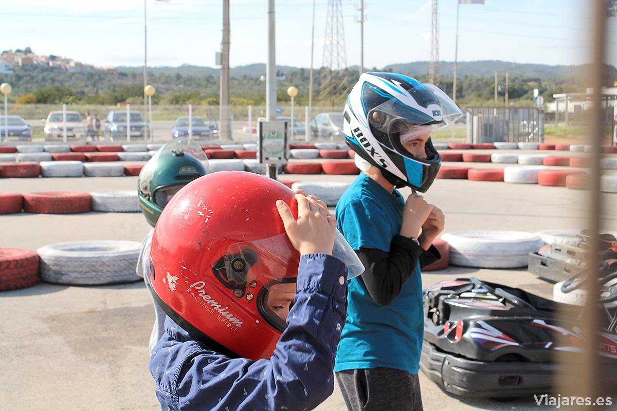 Momentos previos al Gran Premio Viajares de Karts