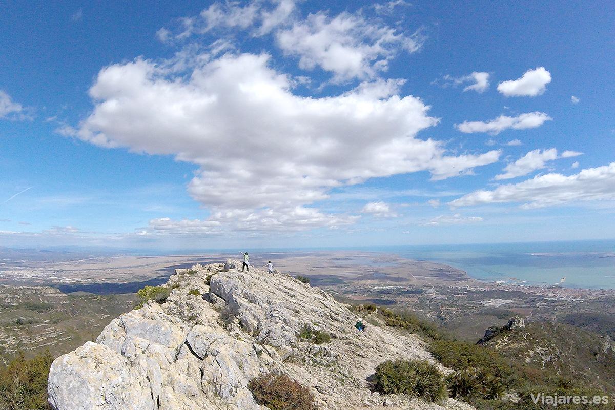 Sensación de libertad en la cima del Montsià