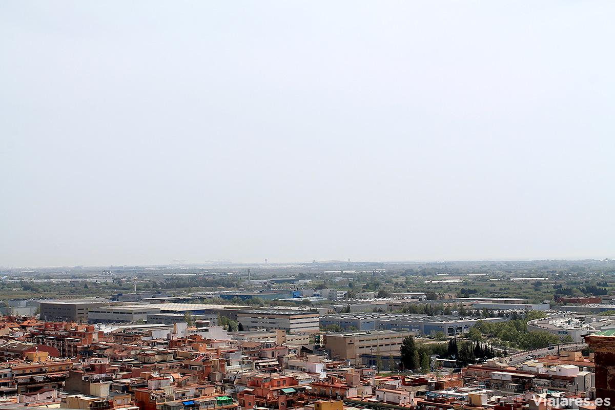 Las vistas en dirección al Aeropuerto de Barcelona