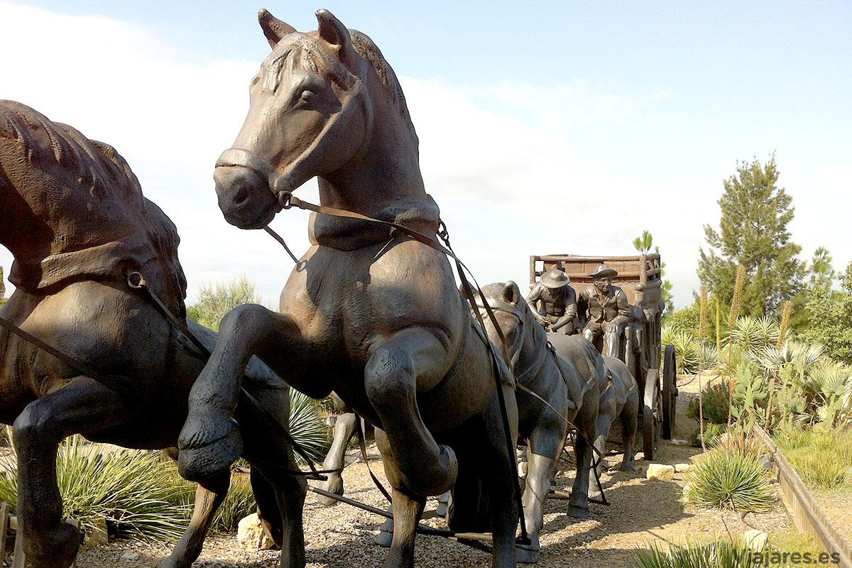 Escultura en la entrada del Hotel Gold River