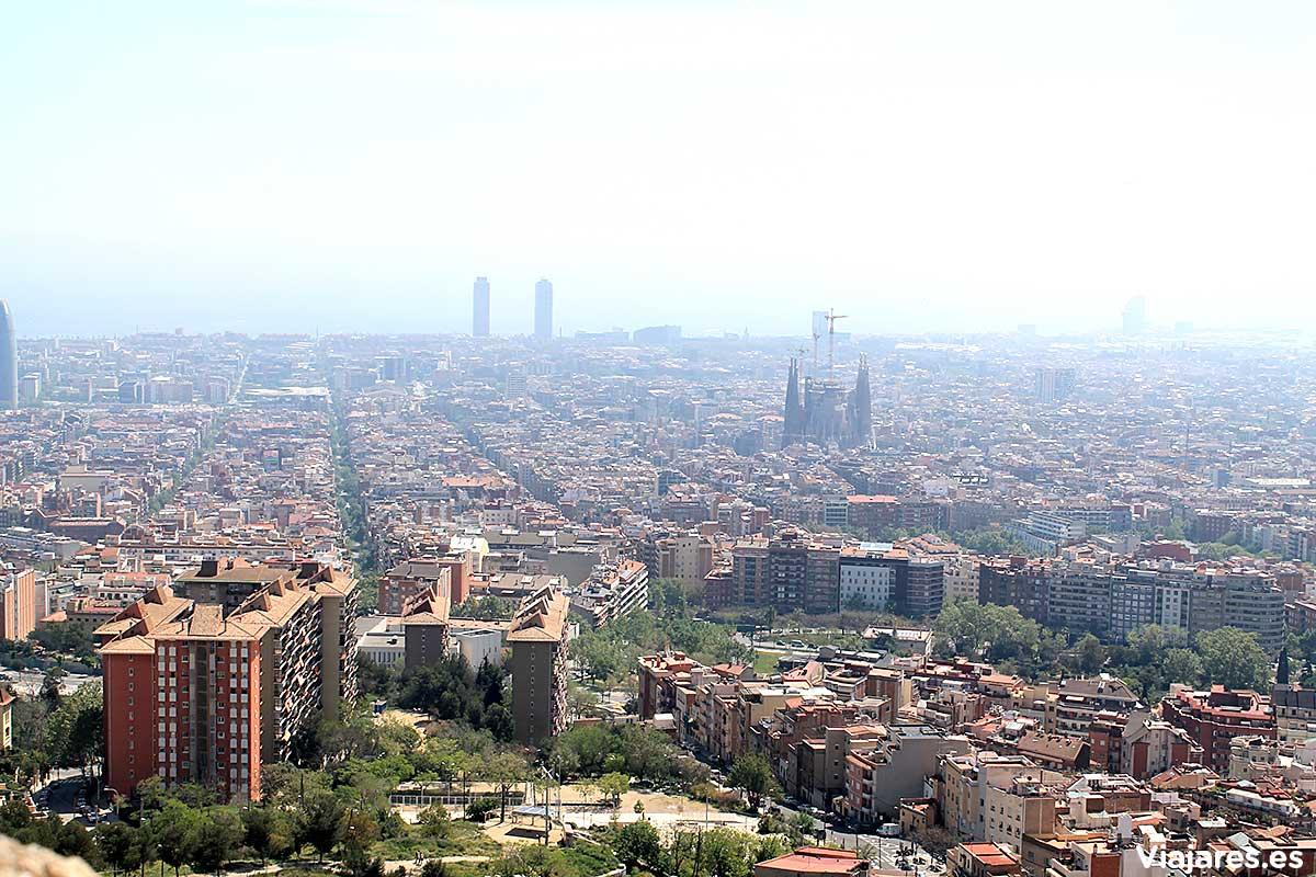 Perspectiva de Barcelona desde Bunkers del Carmel