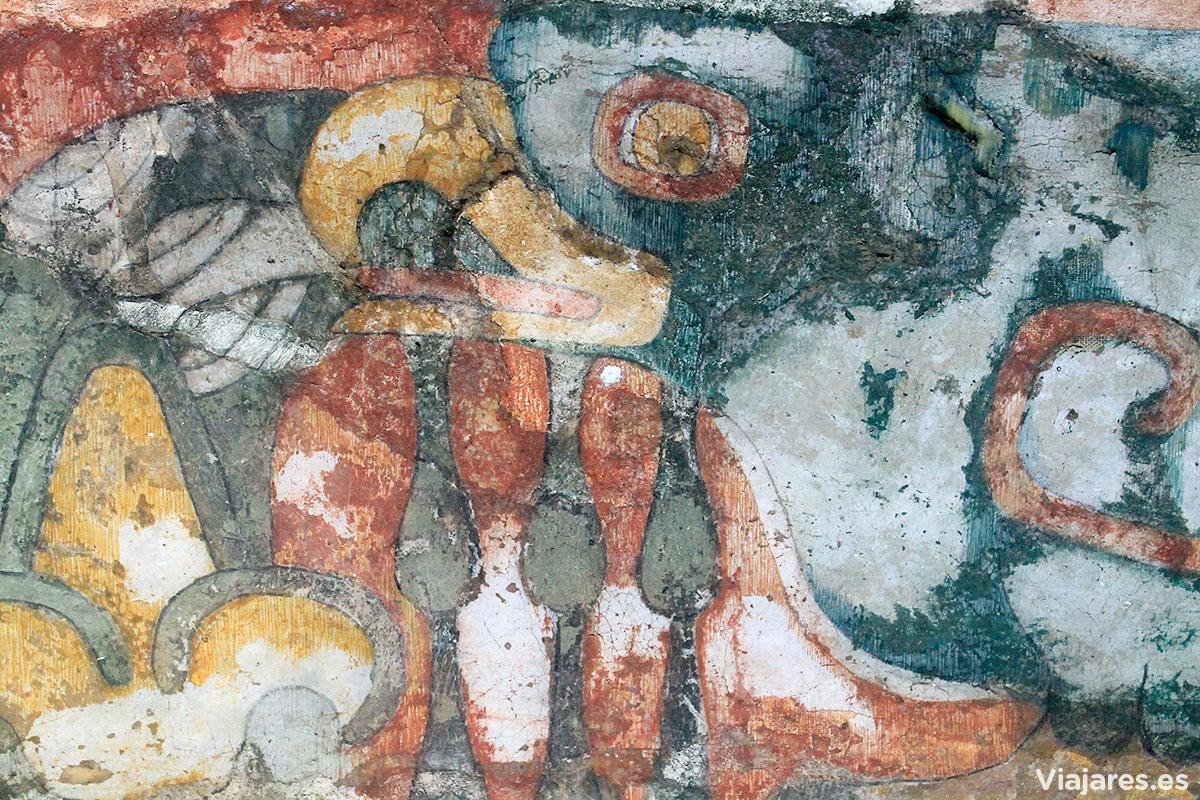 Pinturas murales en Teotihuacan