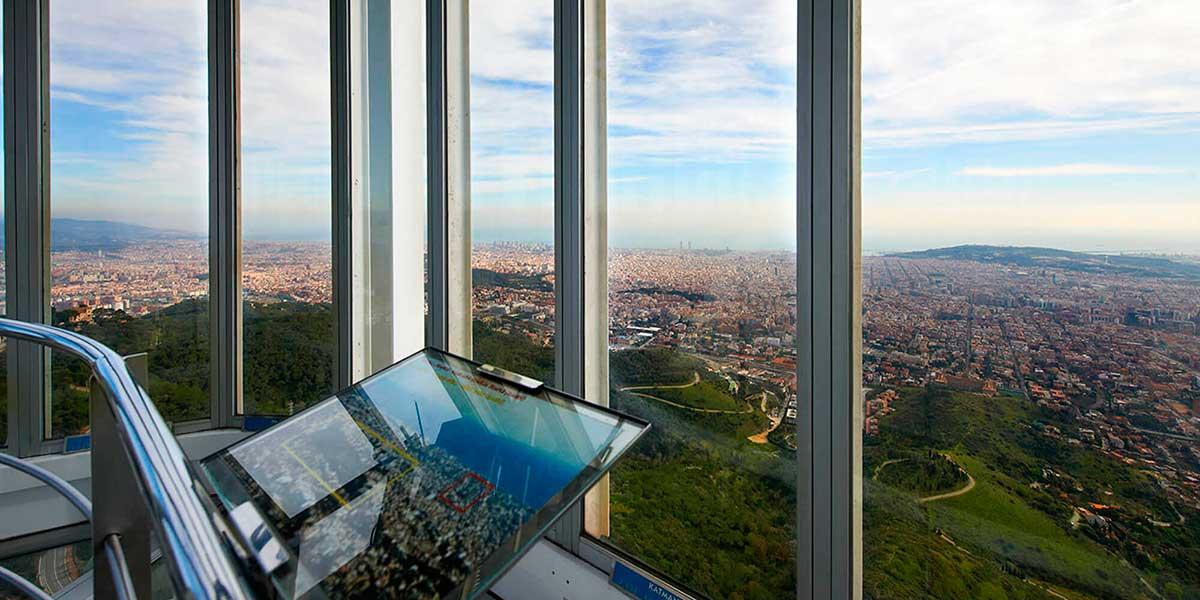 Mirador de la planta 10 de la Torre de Collserola