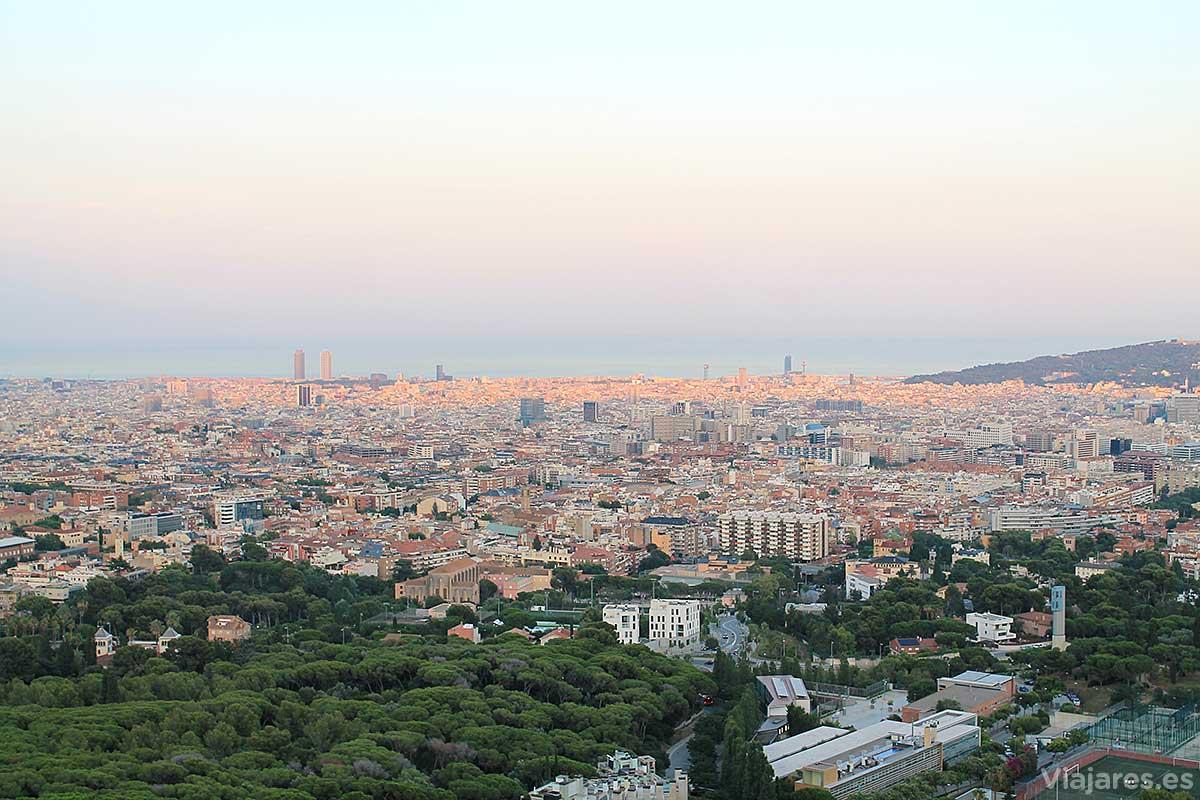 Barcelona desde la Carretera de les Aigües