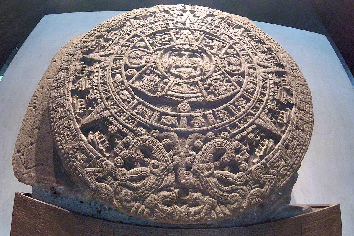 Piedra del Sol en MNA de Ciudad de México