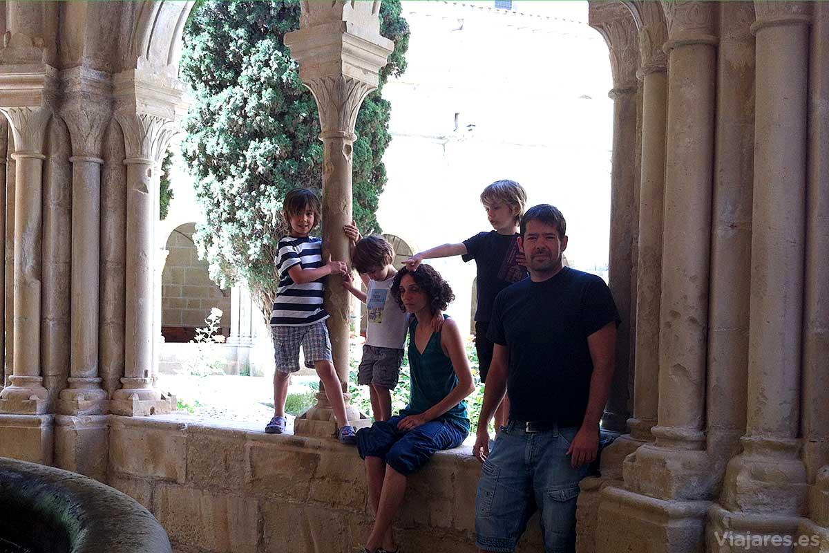 Visitar el Monasterio de Poblet con niños