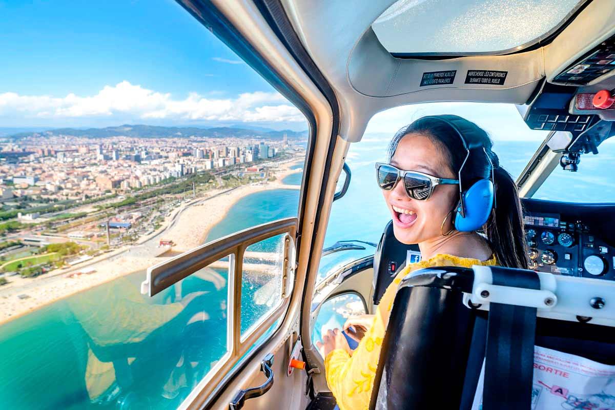 Tour en helicóptero sobre Barcelona