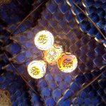 Techo y lámparas de la sala de fumadores