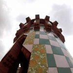 Una de las torres de la Casa Vicens