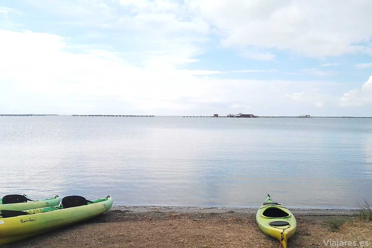 Mar en calma en Delta del Ebro