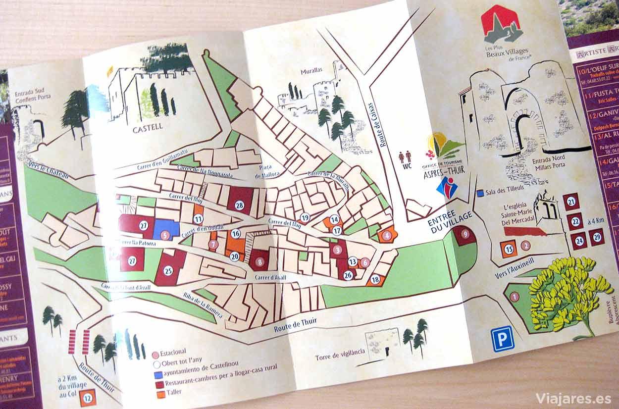 Mapa de Castelnou